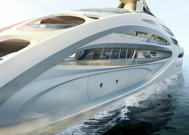 Yacht Concept: Zaha Hadid's Jazz Superyacht  Yacht Concept: Zaha Hadid's Jazz Superyacht Yacht Concept Zaha Hadids Jazz Superyacht 2