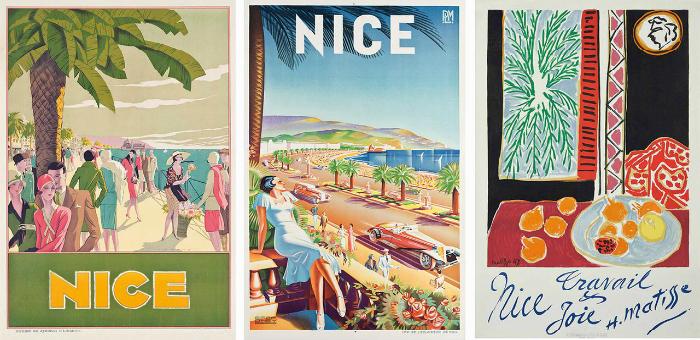 Luxury yacht destination: 6 vintage Mediterranean posters Luxury yacht destination vintage Mediterranean posters