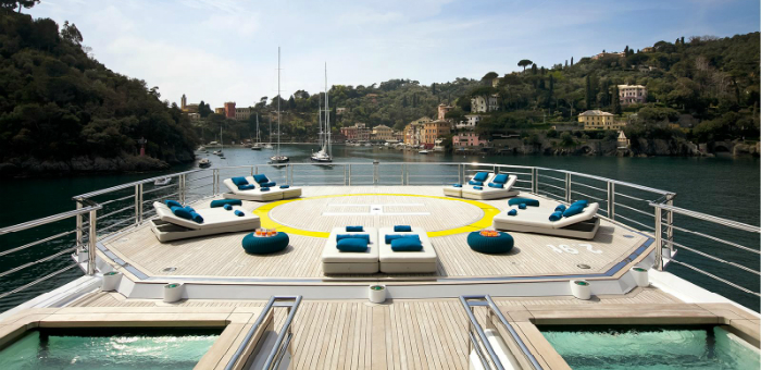 Top 5 Luxury Yacht helicopter decks  Top 5 Luxury Yacht helicopter decks Top 5 Luxury Yacht helicopter decks