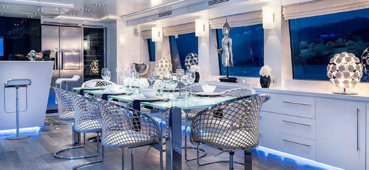 blue dining rooms Hot on Pinterest: See these blue dining rooms inside of yachts IMG3 8