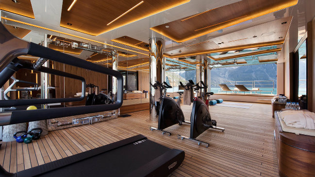 luxury yacht GYMS Top 7 best examples of luxury yacht GYMS FEATURE 3
